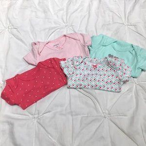 Set of 4 carters onesies